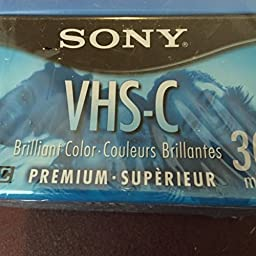 Sony 6-Pack VHS-C Camcorder Videocassettes ~ Premium Grade