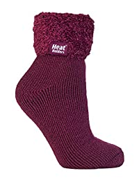 Heat Holders - Ladies Super Soft Thermal Lounge Slipper Bed Socks, 5-9 US
