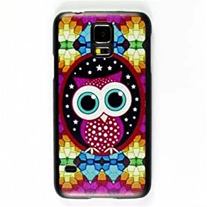 Bright Colorful Owl Hard Back Cover Skin Protector Phone Case For Samsung Galaxy S5 S 5 SV i9600