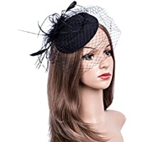 Cizoe Fascinators Hats 20s 50s Hat Pillbox Hat Cocktail Tea Party Headwear with Veil for Girls and Women