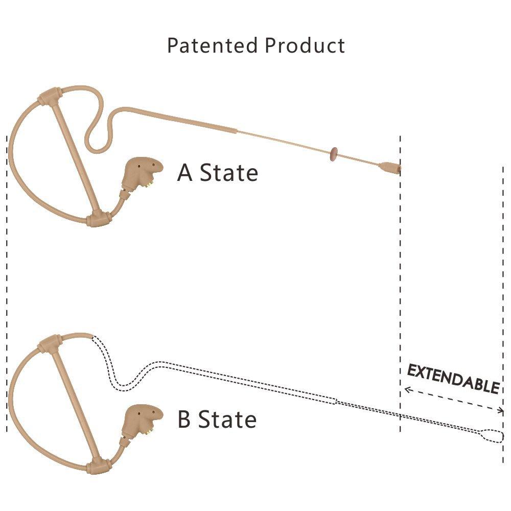 gbbpro patentada /única Oreja micr/ófono inal/ámbrico de cabeza