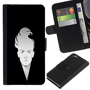EJOY---Tirón de la caja Cartera de cuero con ranuras para tarjetas / Apple Iphone 6 / --Hombre minimalista