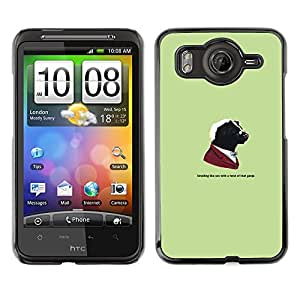 MOBMART Slim Sleek Hard Back Case Cover Armor Shell FOR HTC G10 - Gangster Skunk Animal - Funny