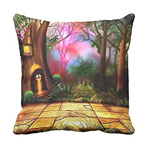 Pillow Cushion Cover Fairy Tale Home Pillow Cover