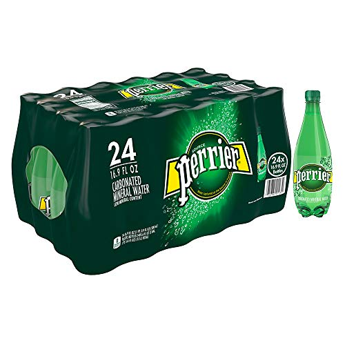 Perrier Carbonated Mineral Water, 16.9 fl oz. Plastic Bottles (24 ()