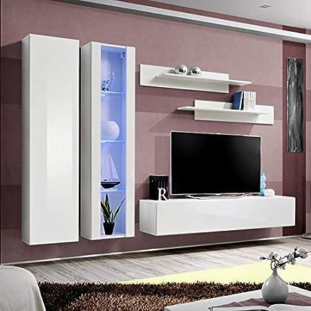 NUEVOBLE - Mueble para televisor, diseño de Color Blanco: Amazon.es: Hogar