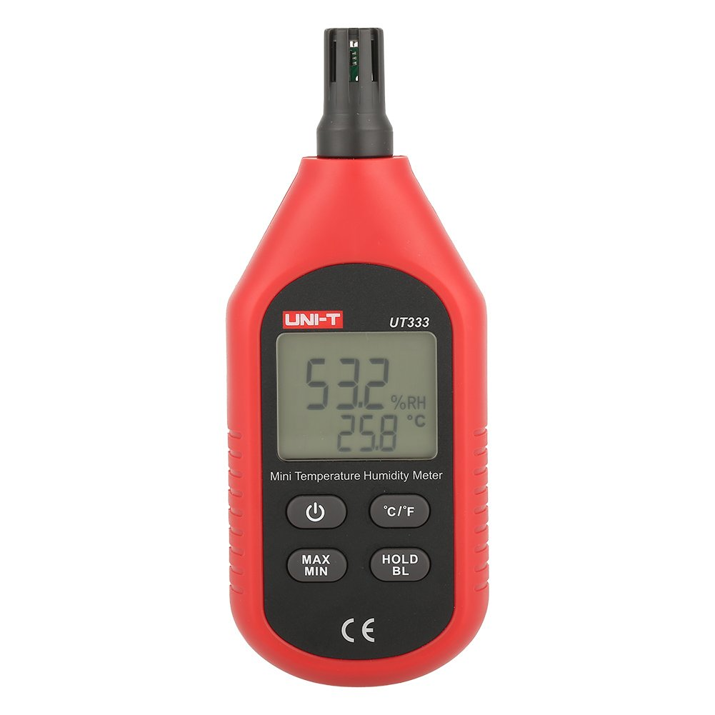 UNI-T UT333 Mini LCD Digital Thermometer,Air Temperature and Humidity Meter Moisture Mete