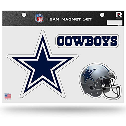 Magnets Cowboys Dallas (Rico Industries NFL Dallas Cowboys Die Cut Team Magnet Set Sheet)
