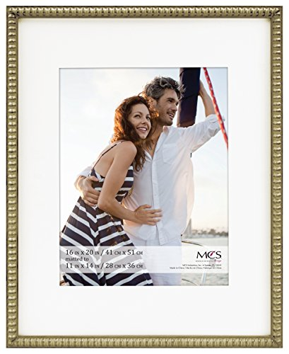 MCS 16x20 Inch Beaded Frame with 11x14 Inch Mat Opening, Cha