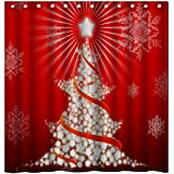"abigai Howling Wolf Waterproof Bathroom Fabric Shower Curtain 72"" x 72"""