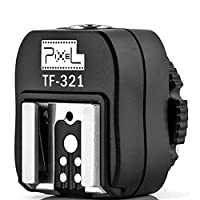 Pixel TF-321 TTL Flash Hot Shoe Adapter With Extra PC Sync Port For Canon Digital SLR and Flashgun