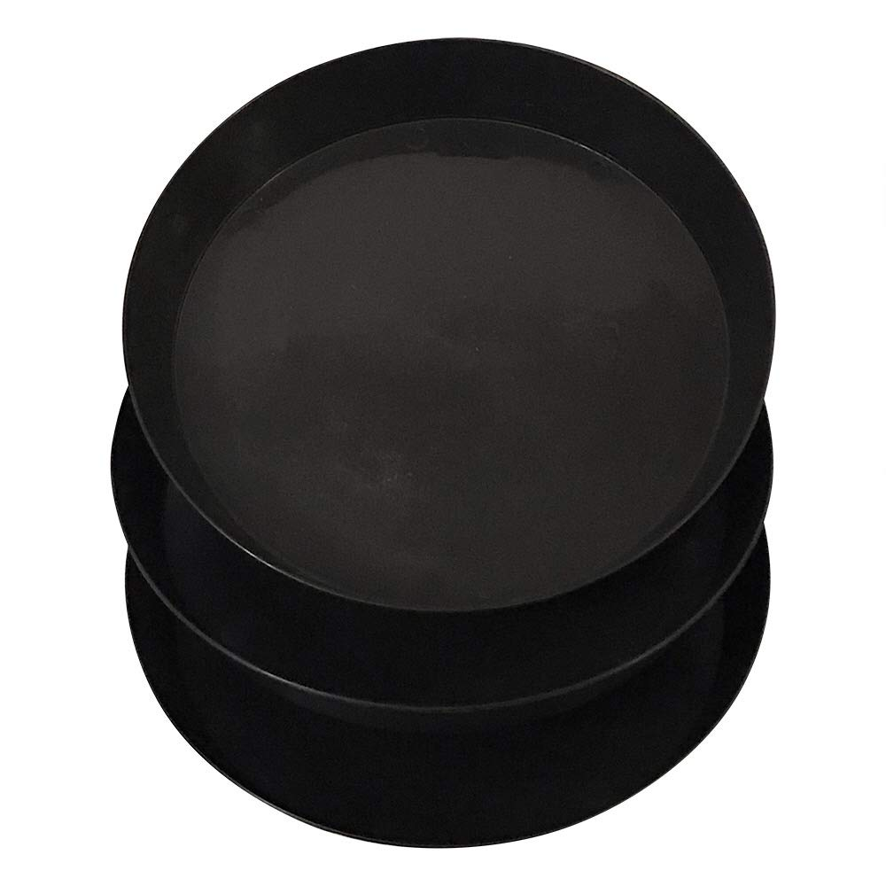 Gulfview - Plastic Plant Saucers Round Black Plant Trays 12 Inch Set of 3 by Gulfview