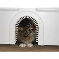 Cat Door - The Original Cathole Interior Pet Door - The Only Cat Door With A Cleaning / Grooming Brush.