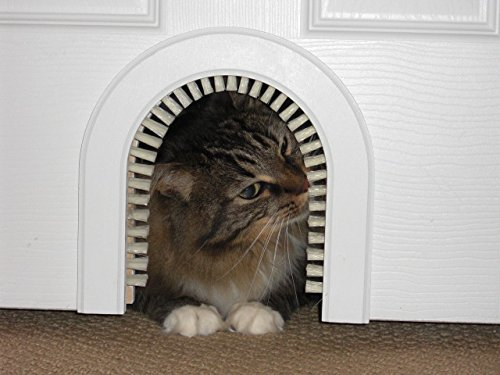 nal Cathole Interior Pet Door - The Only Cat Door With A Cleaning / Grooming Brush. ()