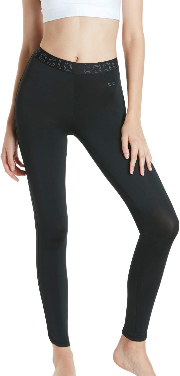 TSLA Womens Compression Baselayer Pants Casual Cool Dry Yoga Active Leggings Tights