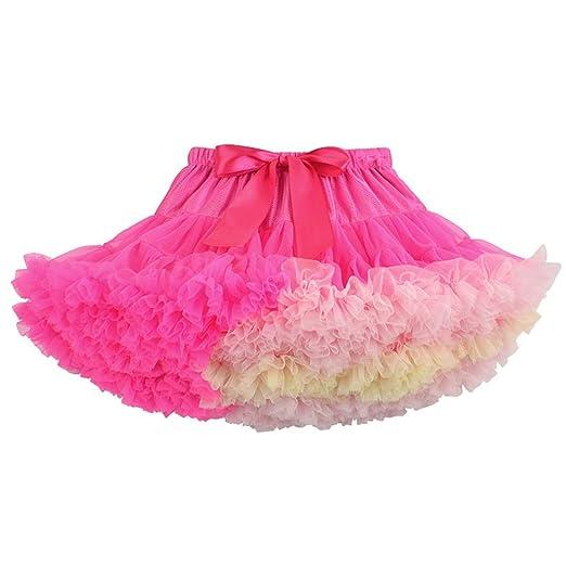 Yamyannie Vestido de Traje de niña Fluffy Tul Plisada Falda de ...