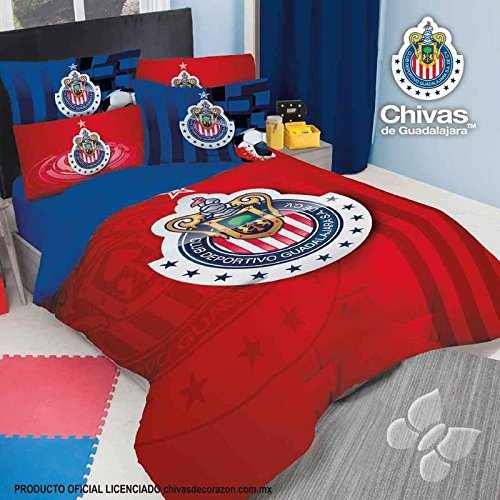 CLUB CHIVAS GUADALAJARA SOCCER FUTBOL COMFORTER FULL by JORGE'S HOME FASHION INC