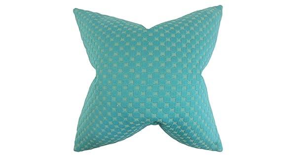 The Pillow Collection Kasen Solid Bedding Sham Teal European//26 x 26,