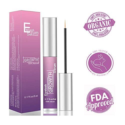 Eyelash Growth Serum, LamFun Lash and Brow Enhancer Natural Irritation Free Formula (0.17FL.OZ/5ML)