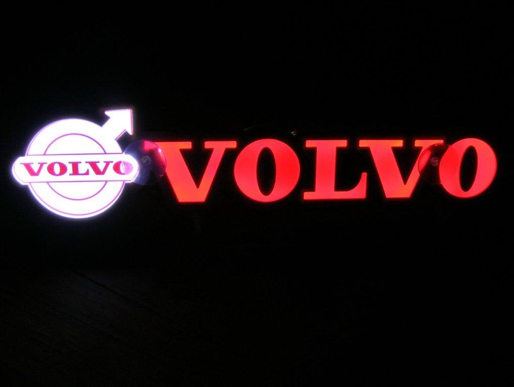 24V LED Letreros 3D Placa Neón Luz para Volvo Camión Rojo Mesa Interior Señal ILUMINACIÓN SOLAMENTE HACIA ADELANTE - No le Molesta Mientras Conduce: ...