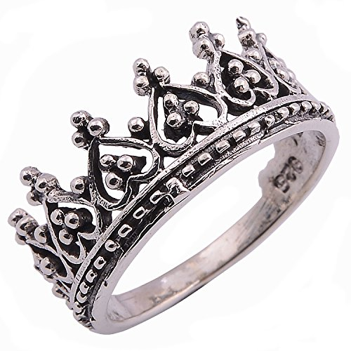 Nice Crown Ring Sterling Silver (5) (Design Nice Silver)