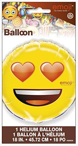 Foil Heart Eyes Emoji Balloon