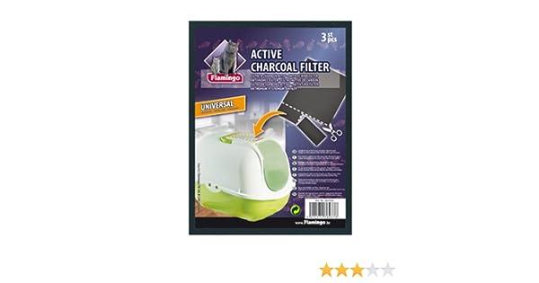 Flamingo 10740 Filtro de Carbón para Lavabo de Gatos, Recortable: Amazon.es: Productos para mascotas