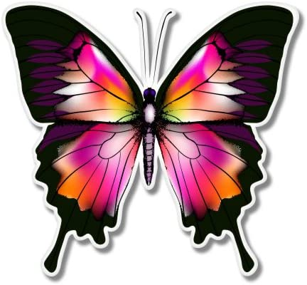 AK Wall Art Butterfly Vinyl Sticker Select Size Car Window Bumper Laptop