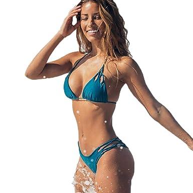 prodotti di qualità super speciali disabilità strutturali 2pcs Bikini Due Pezzi/Costumi da Bagno Donna/Costume da Bagno Bikini Due  Pezzi Push Up Ragazza Mare Sexy Costume Imbottito Set Bikini ...