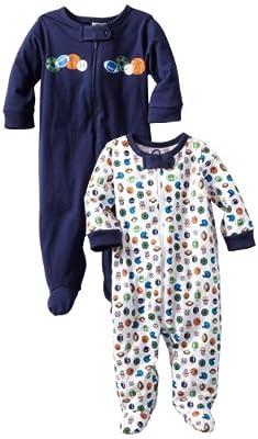 Gerber Baby-Boys 2 Pack Sleep N Play Zip Front Sports