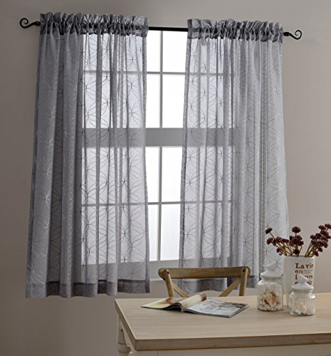 MYSKY HOME Embroidery Embroidered Curtain