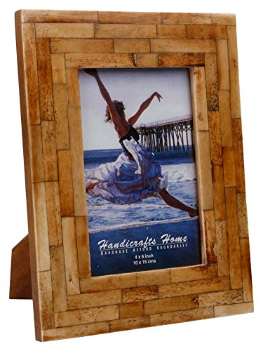 Mosaic Shimmering Picture Photo Frame Handmade Naturals Bone Frames from Handicrafts Home For Photo Size 4X6  5×7 Inches (4×6)