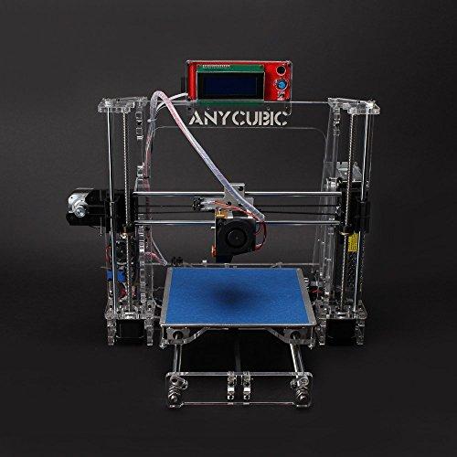 Anycubic Prusa I3 3D-Drucker LCD Bildschirm USB SD Karte 3D Printer DIY Kit Set (Transparent)