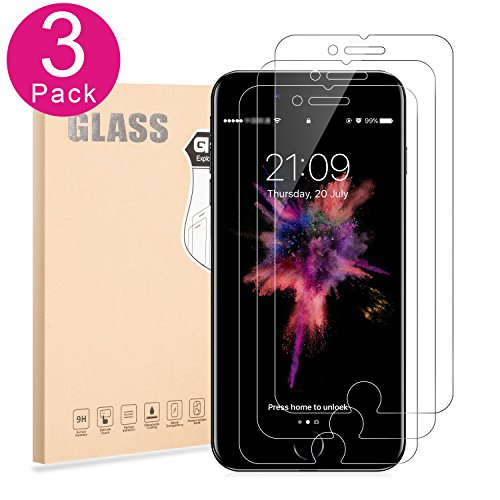 Iphone 7 Plus Screen Protector Tempered Glass 2 5D Edge  0 3Mm And 9H  Anti Scratch  Anti Fingerprint For Guard 5 5 Protector  3 Pack Glass  Yi Life