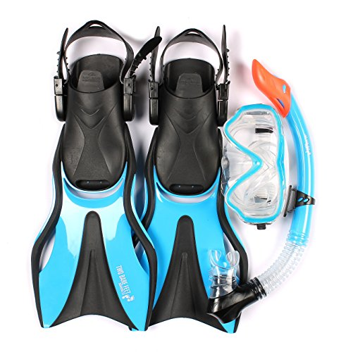 cd604620642 Junior SILICONE Mask, Snorkel & Fins 3PC Kids Diving Set - Buy Online in  Oman. | Sports Products in Oman - See Prices, Reviews and Free Delivery in  Muscat, ...
