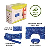 Nature Creation Full Treatment Set- Herbal Heating Pad / Cold Pack - Hot and Cold Therapy (Blue Flowers)