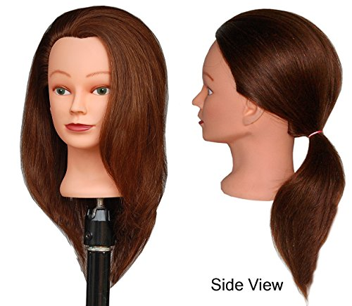 HairZtar 100% Human Hair 20-21 Mannequin Head Hairdresser Training Head Manikin Cosmetology Doll Head (CORA) (BEA)