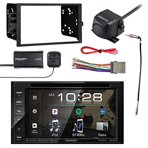 (Kenwood Multimedia Receiver, BT w/Sirius Vehicle Radio Tuner, Kenwood Rearview Wide Angle View Backup Camera, Metra 2-DIN Installation Kit for Radio, Metra Antenna Adapter & Metra Radio Wiring Harness)