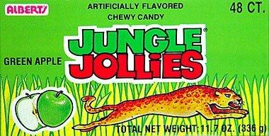 Albert's Jungle Jollies Green Apple 48ct.