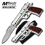 MT-A818SW M9 ASSISTED OPENING KNIFE WITH GUN HOLSTER 4.75 m8lmPtlAC INCH A3VbGFy4ZW CLOSED SIL ajuiioptr 4567fffg 567ybghjk MTech USA Ballistic M9 Series Assisted Opening KnifeAssisted opening knife4.75 Inch closed in length3.5 Inch silver half serrated 9pXV4Haq stainless steel blade3MM Thickness bladeSilver Aluminum M9 Pistol style handleWood overlay on handleIncludes black nylon gun p8uNPj holster