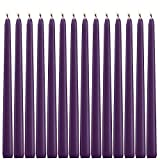 14 Purple Taper Candles 12 Inch Tall 3/4 Inch Thick Burn 10 Hours (Color Is Core and Overdip )