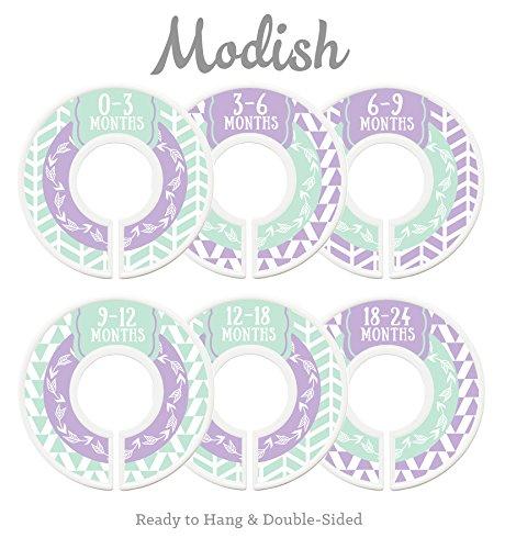 Modish Labels Baby Nursery Closet Dividers, Closet Organizers, Nursery Decor, Baby Girl, Woodland, Arrow, Tribal, Purple, Lavender, Mint