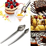 Gaddrt Stainless Steel 2Pcs Chocolate Creams Pencil Filter Spoons Cake Decoration Baking Pastry Tools Accessories Kitchen Gadget