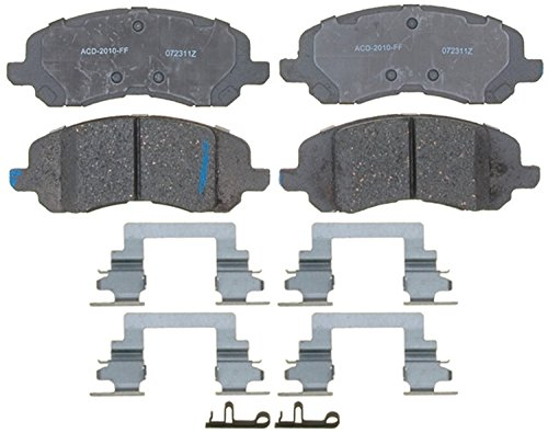 ACDelco 14D1285CH Advantage Ceramic Front Disc Brake Pad Set with Hardware