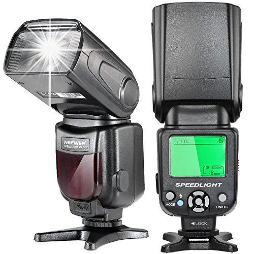 Neewer i-TTL Speedlite Flash with LCD Display, Hard Diffuser