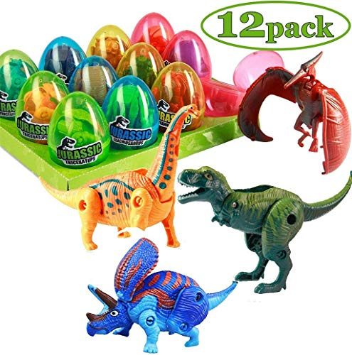 Blingdots Dinosaur Egg Puzzle (Pack of 12)   12 Different Dinosaur Eggs, 12 Cool Transforming Toy   School or Carnival Prize  Fun Birthday Gift Idea for Boys and Girls -