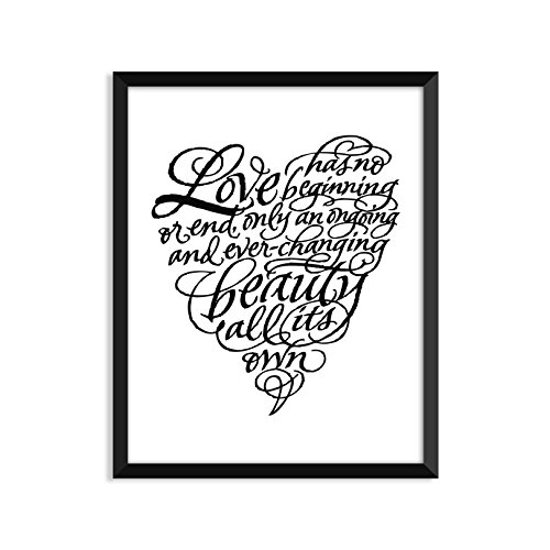 Baby Beginnings Nursery Posters (Love Has No Beginning Or End - Unframed art print poster or greeting card)