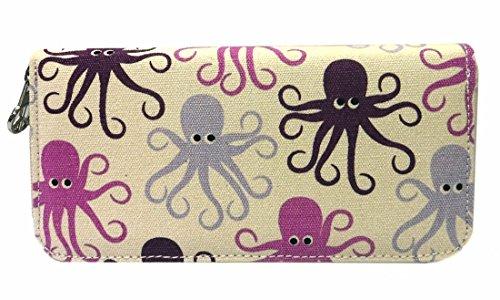 (Bungalow360 Zip Around Wallet - Octopus)