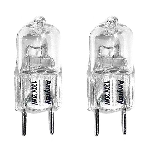 (2)-Bulbs Anyray Replacement for 120V 20-Watt for GE Microwave WB25X10019 20W Halogen light