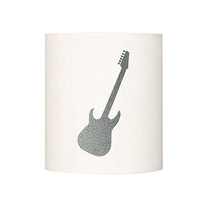 Lilipouce Aplica Guitarra Escarcha, cartón, Plata, 30 cm